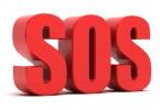 SOS 3d text