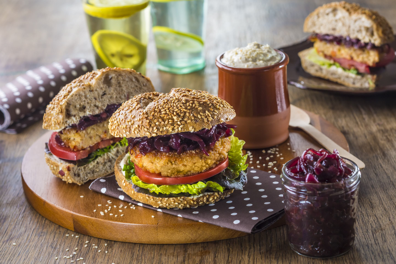 Burger-Kasza jeczmienna z soczewica